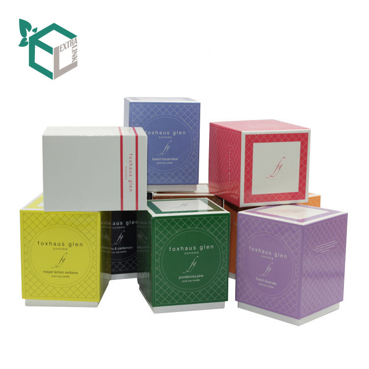 Hot Sale Rigid Cardboard Custom Candle Packaging Box