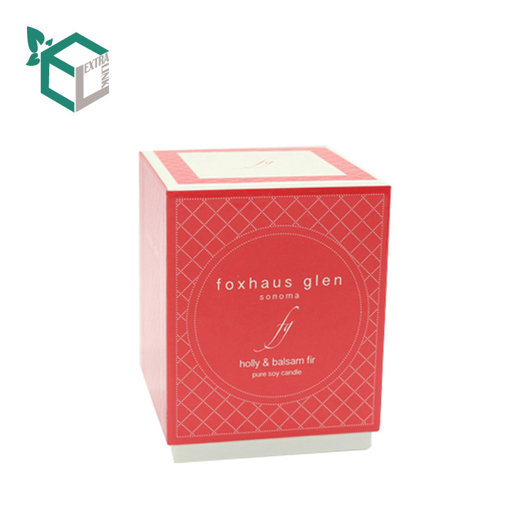 Luxury Rigid Top And Bottom Box Custom Candle Jar Packaging