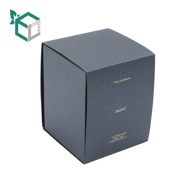 Square Shape Paper Packaging Custom Printed Candle Box