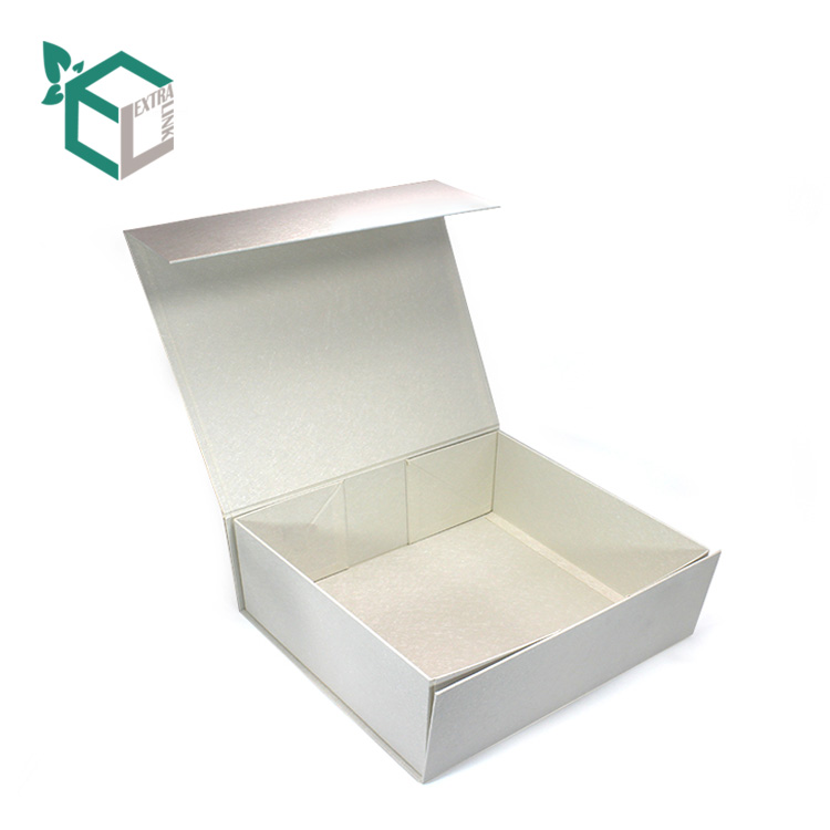 Collapsible Gift Box Flap Lid Paper Cardboard Packaging Magnetic Closure Shoe Box