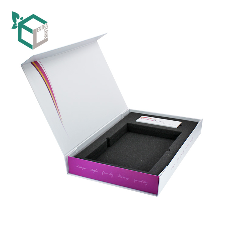 Custom Printing Packaging Box Cosmetic Foldable Box With Eva Inserts