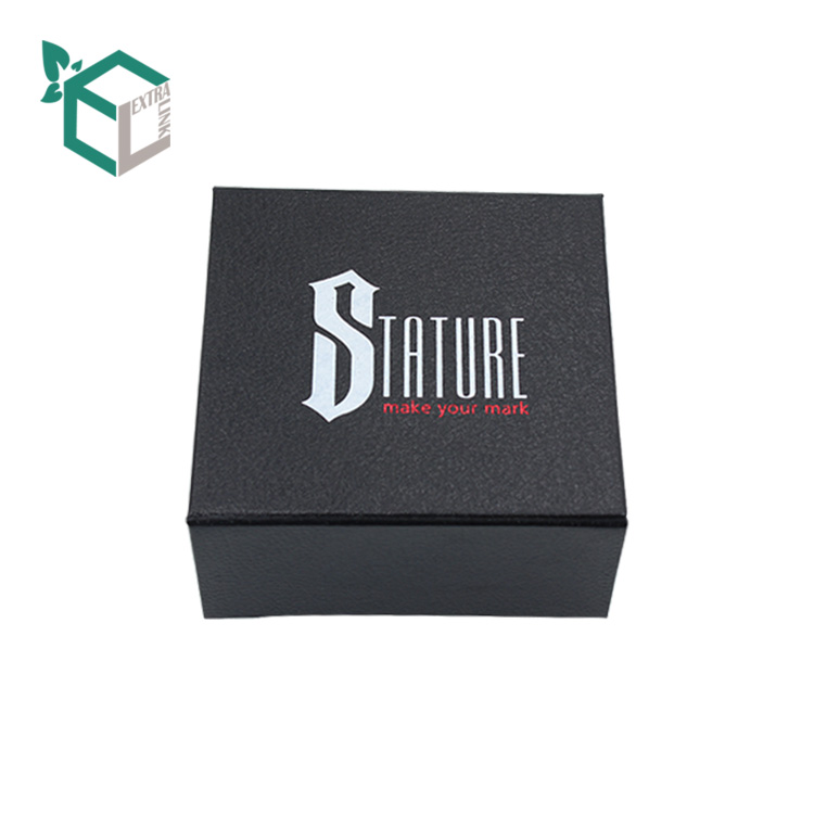 Fancy Top Grade Empty Rigid Packaging Matt Black Foldable Box For T-Shirt