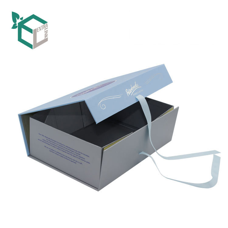 High Quality Custom Logo Paper Packaging Gift Apparel Foldable Box With Magnets