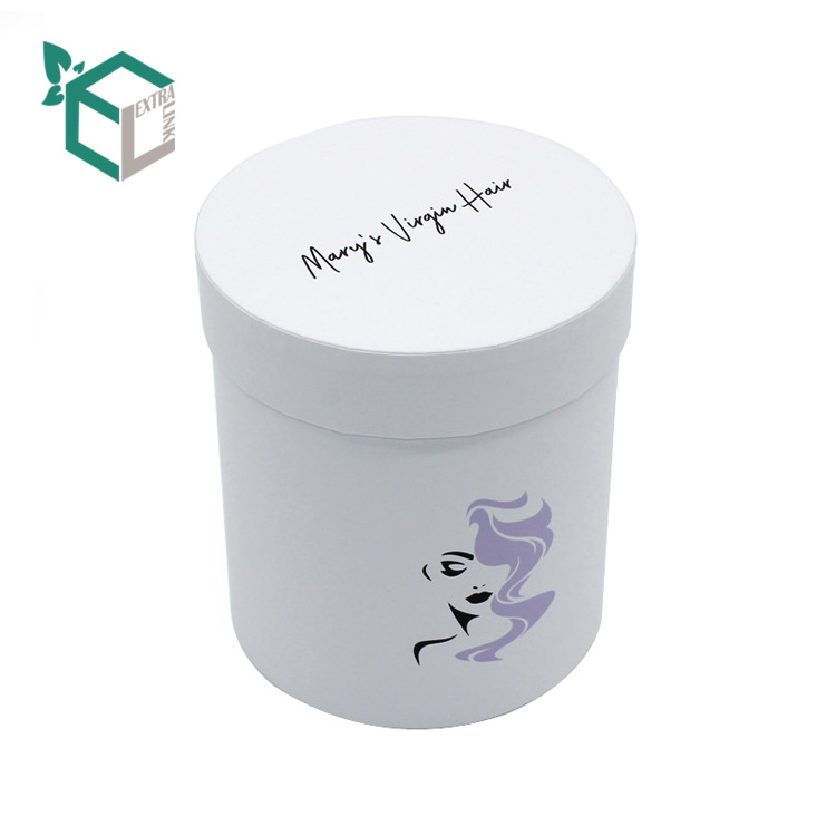 Accept Custom Luxury Round Shape Hair Extension Packaging Box