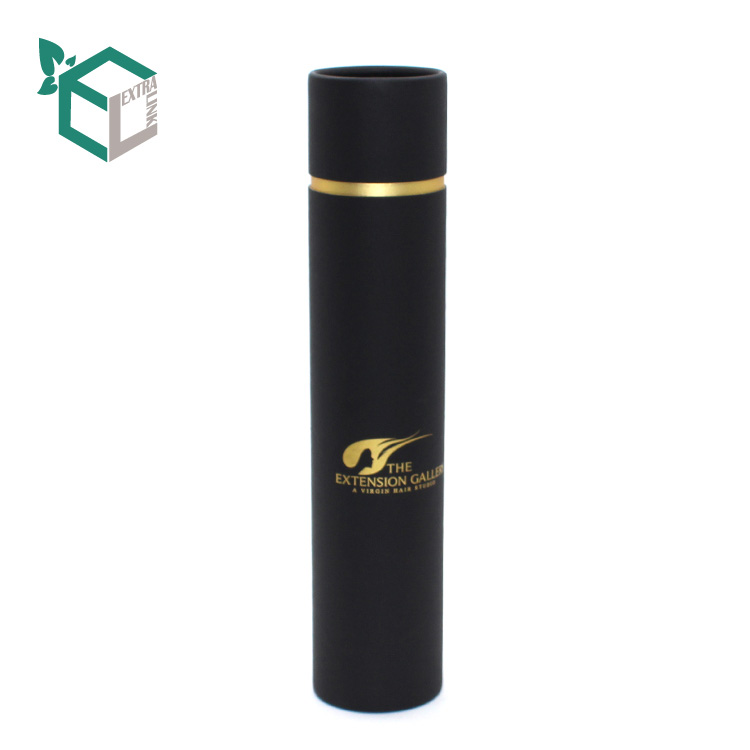 High End Custom Round Black Hair Weave Packaging Box