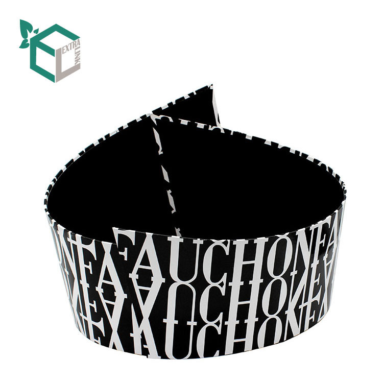 Creative Black Stripe Line Pattern Printing Round Box For Display