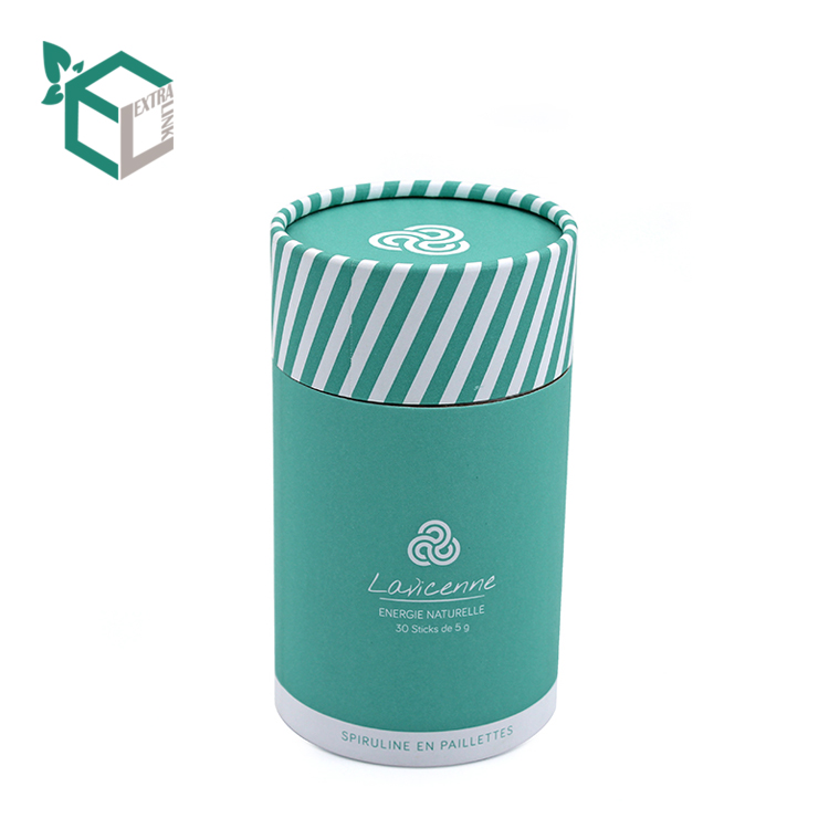 Custom Good Quality Green Pantone Color Printing Round Box