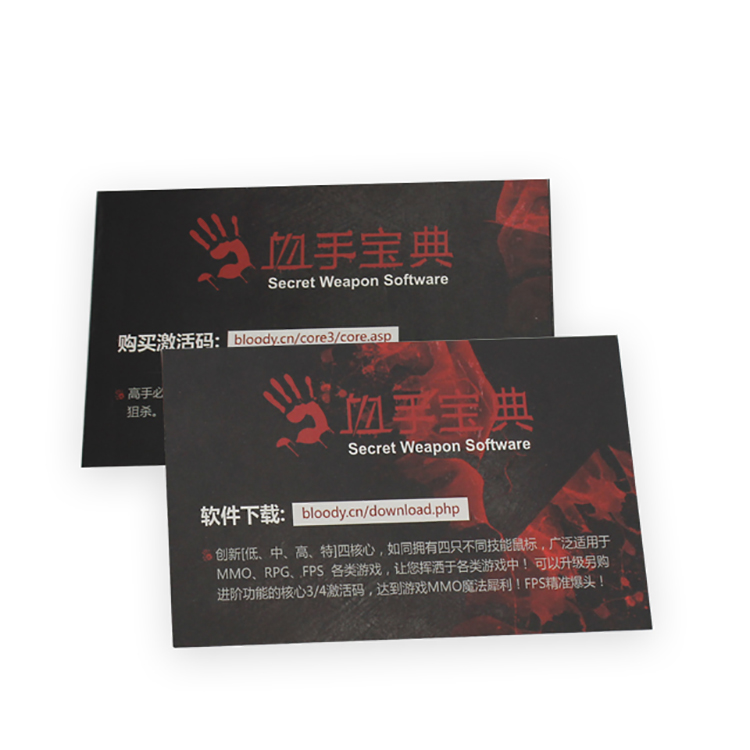 Cheap Customized Full Color Insert Card Printing