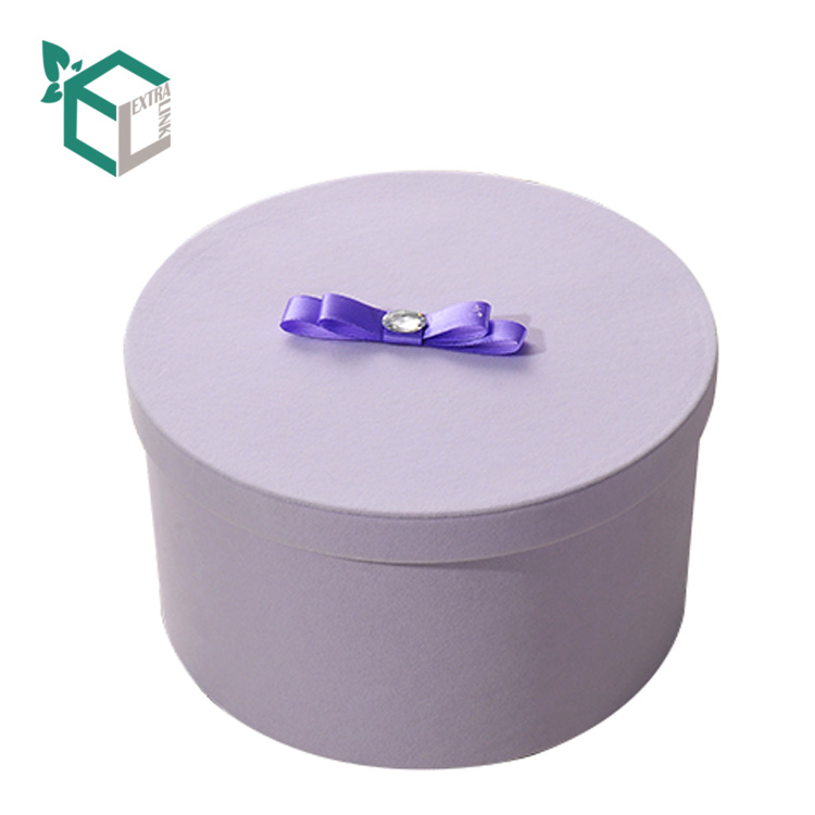 Cheap Purple Flower Box Round With Small MOQ