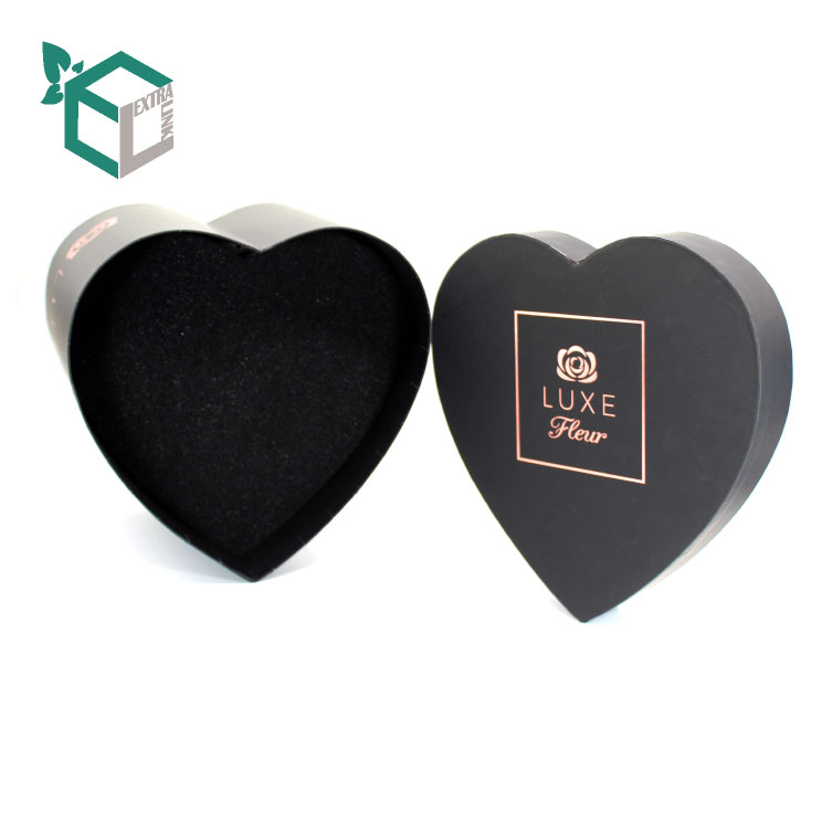 Custom Printing Flower Delivery Packaging With Heart Shape