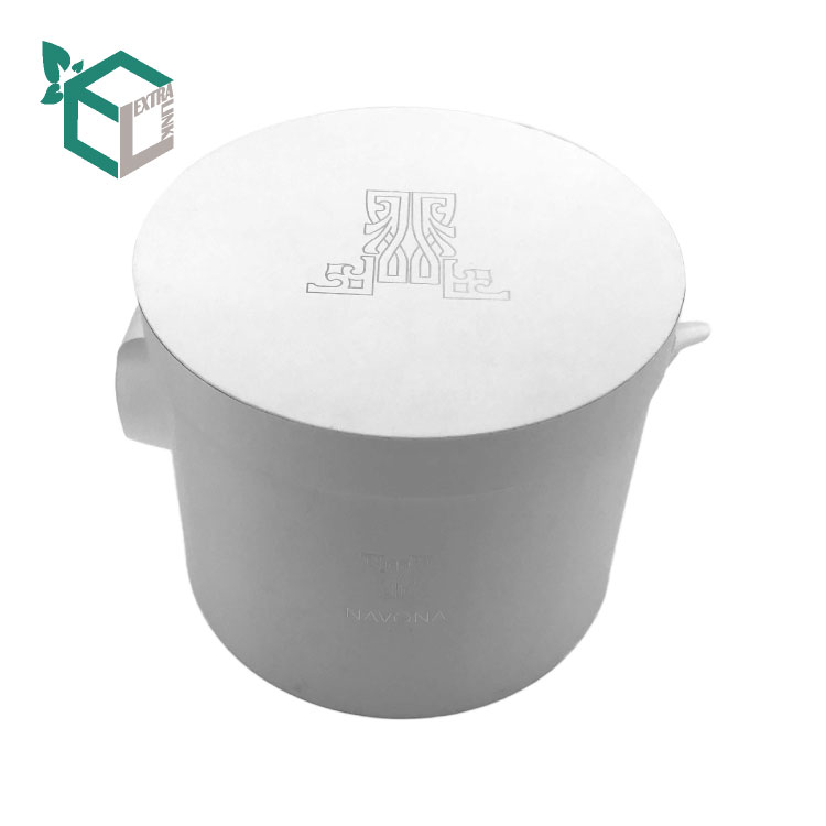 Factory Wholesale Black Round flower box with LOGO Printing