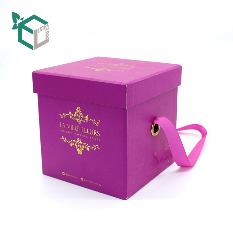 Factory Wholesale Red Velvet Flower Box For Wrapping Gift