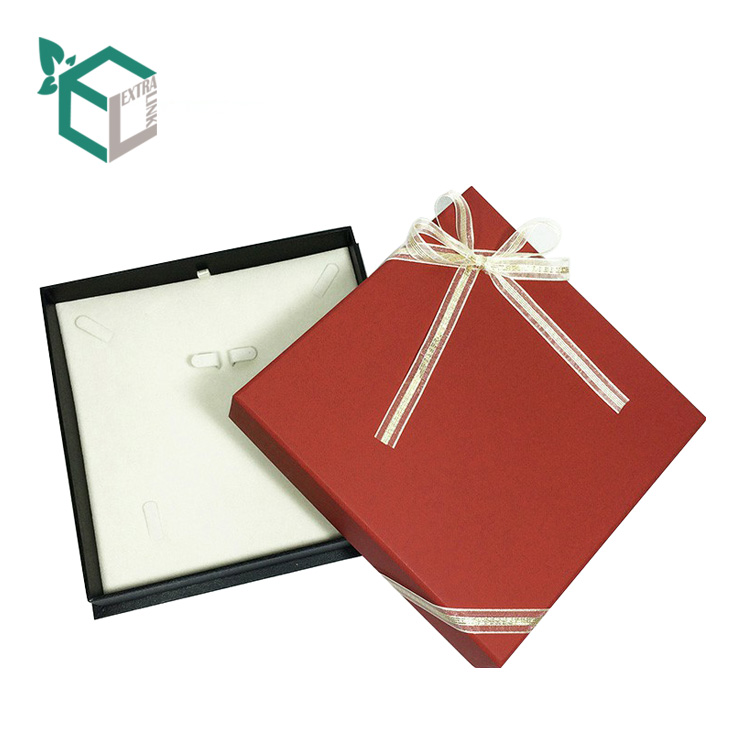 Fancy Paper Custom Necklace Packaging With Insert