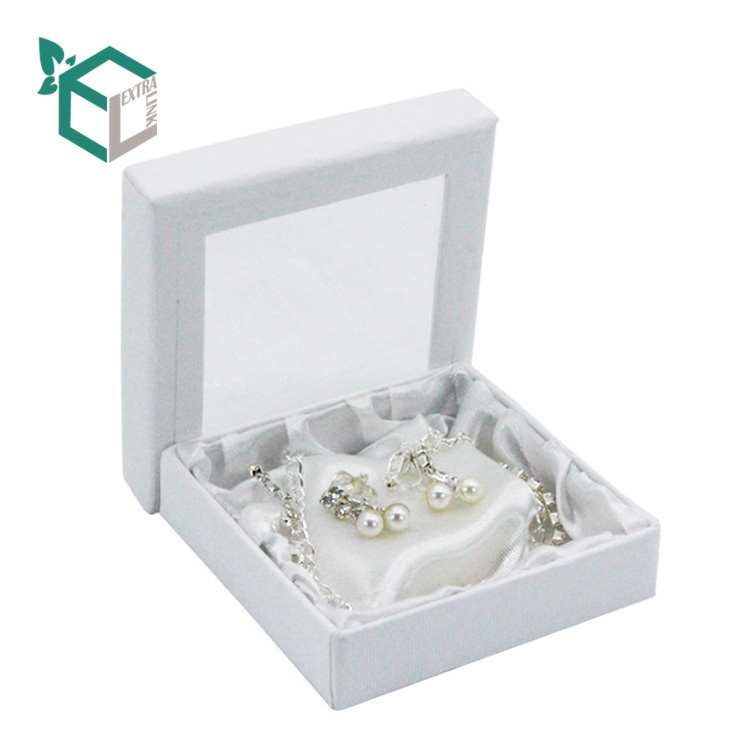 White Paper Diamond Necklace Gift Box With Display Window