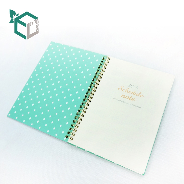 2020 Fashion Paper Diary Spiral Notebook Custom Printing Hardcover Travel Journals