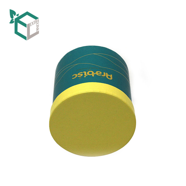Fashion Design Custom Printing Yellow Green Gift Paper Tube