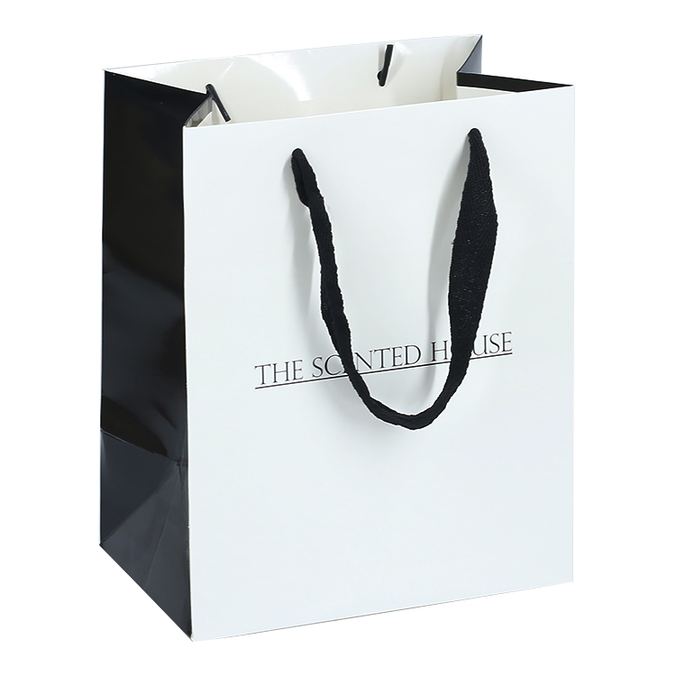 Customized Classic Print LOGO Shopping Paper Bag For Storage Clothes
