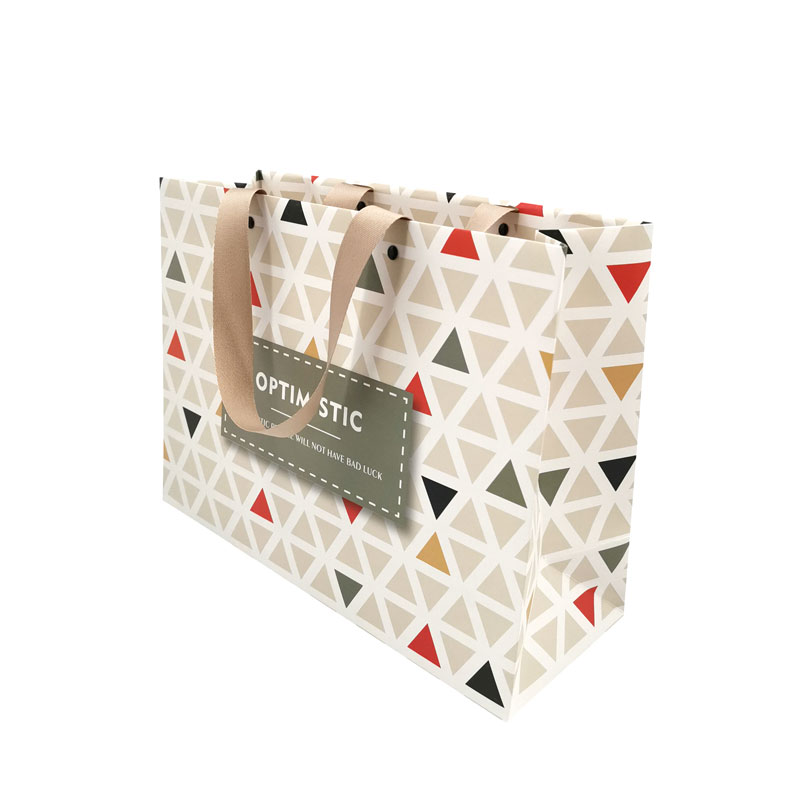 Recyclable Luxury Printed Gift Bag Custom Foldable Shopping Bag