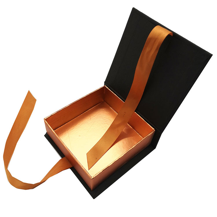 Custom Book Shape Chocolate Packaging Boxes With Ribbon