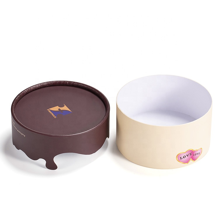 Recyclable Small Chocolate Box Round Paper Gift Custom Packaging Box For Retail