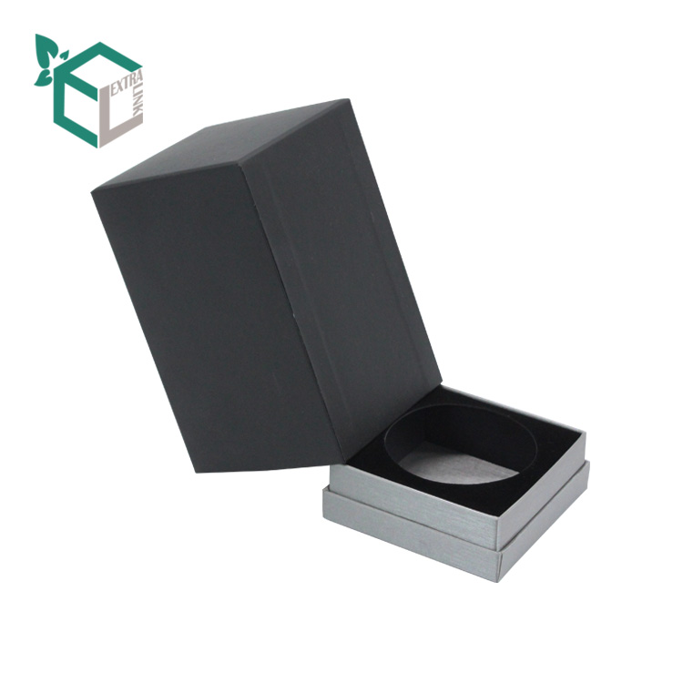 Luxury Black UV Logo 10ml Perfume Box With EVA Insert