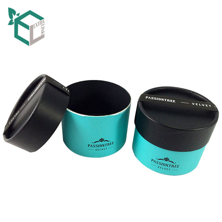 Black Paper Cylinder Packaging Box Custom Printed Tube Cosmetic Boxes