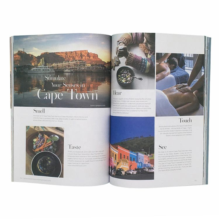 Custom Wholesale Softcover Brochure Hotel Introduction Catalogue Printing