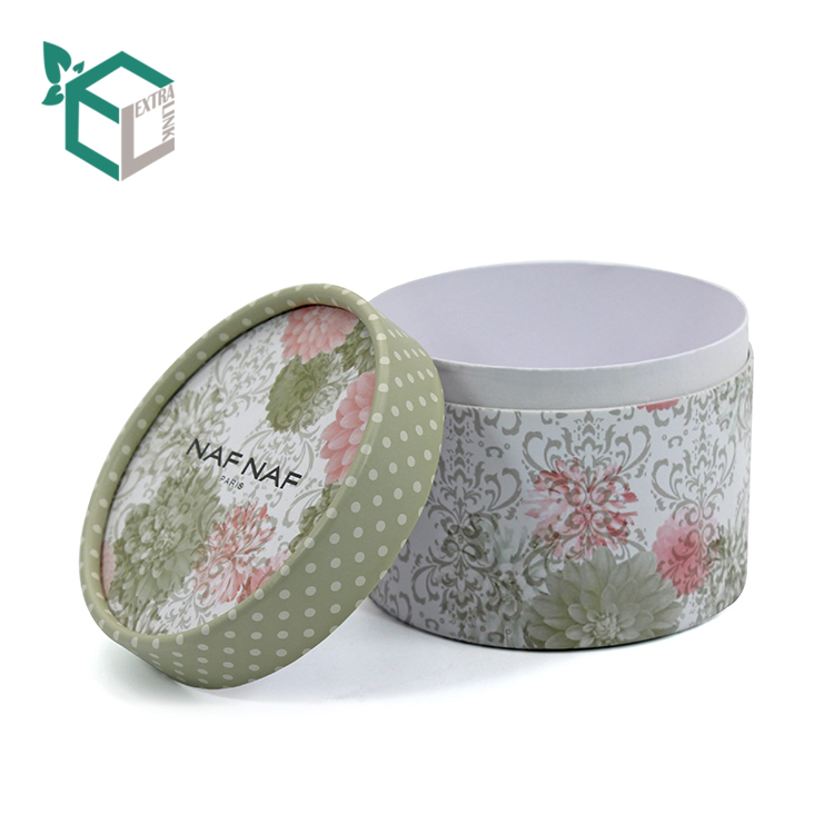 Round Package Box With Full Printed Recycled Soap Paper Box
