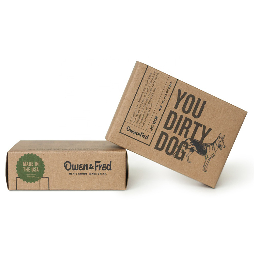 Wholesale Eco-friendly Logo Printed Custom Soap Kraft Paper Boxes