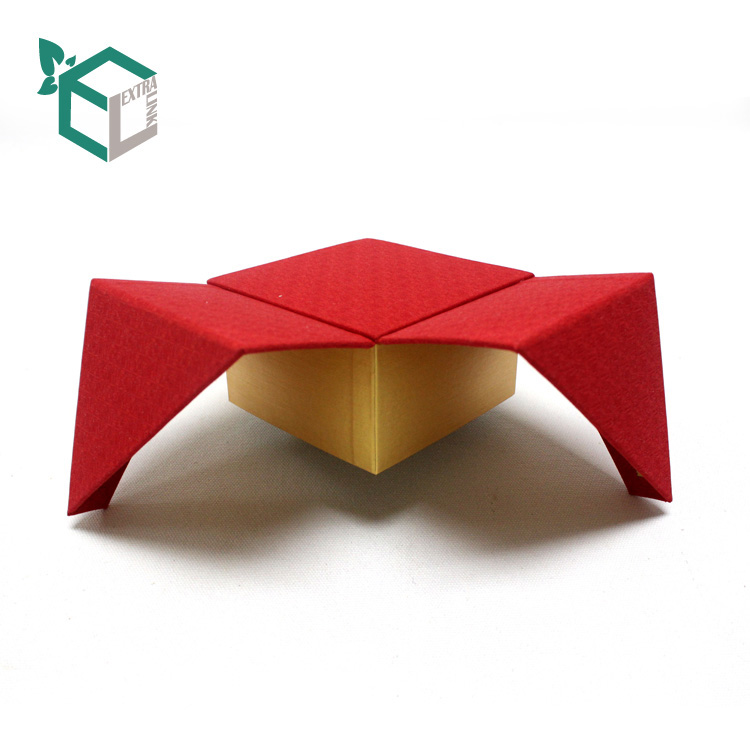 High Quality Luxury Red Fancy Paper Jewelry Bracelet Box Square Shape