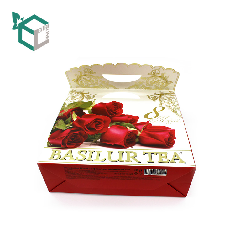 Luxury Custom Beautiful Food Bag Tea Paper Gift Bag