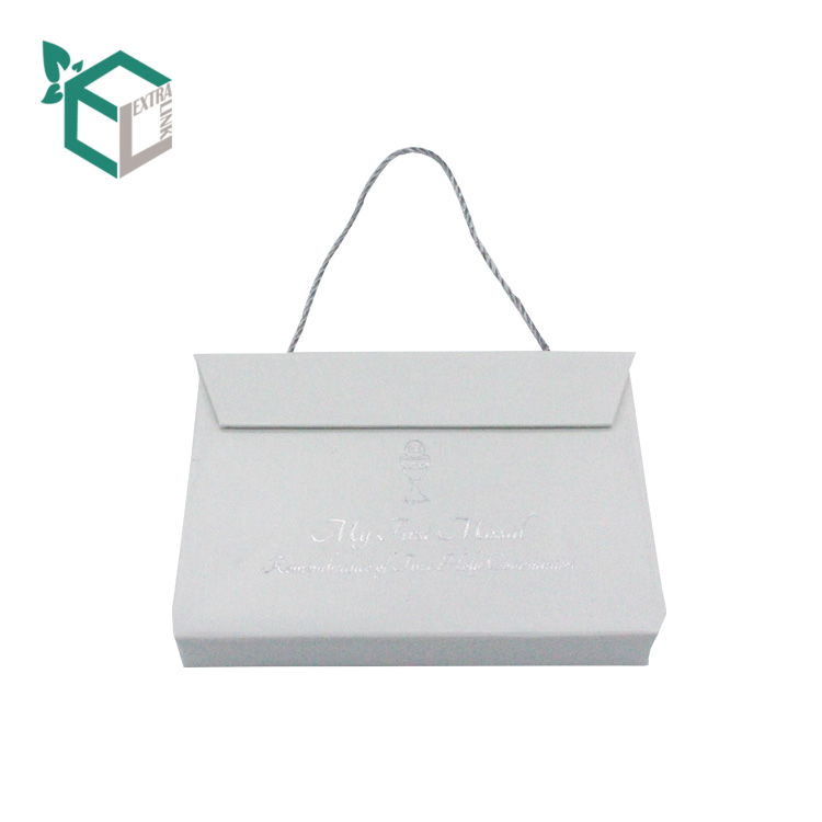 White Cardboard Box For Jewelry Storage Bracelet Suitcase Paper Box