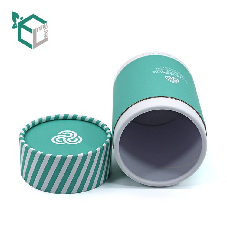Blue Color Printing White Kraft Paper Material Women Cosmetic Paper Tube