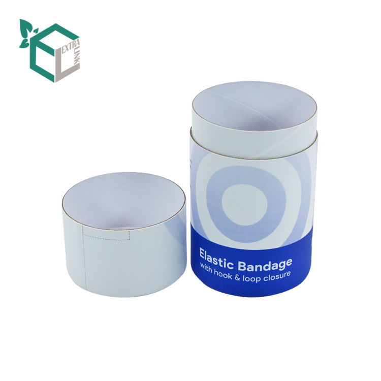 Custom Design Blue Printing Sock Round Box Packaging