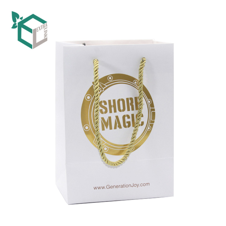 Custom Recycle Shopping Packaging White Craft Paper Bag With Handles