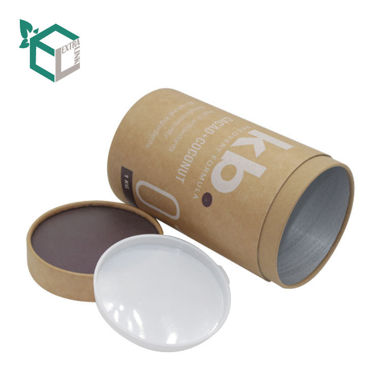 High Quality Kraft Paper Tube With Plastic Lid