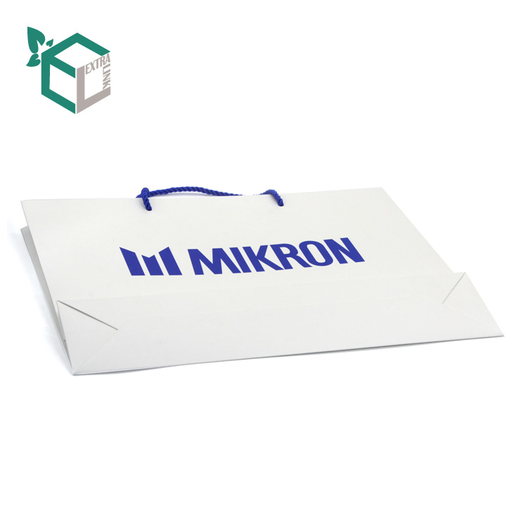 High Quality Shopping Art Paper Bag With Handle Manufacturer White Shopping Bag