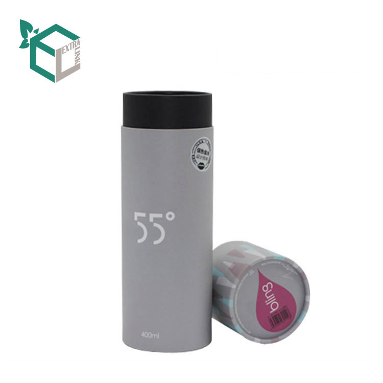 Luxury Design Grey Matt Silver Shinny Paper Tube For Gift