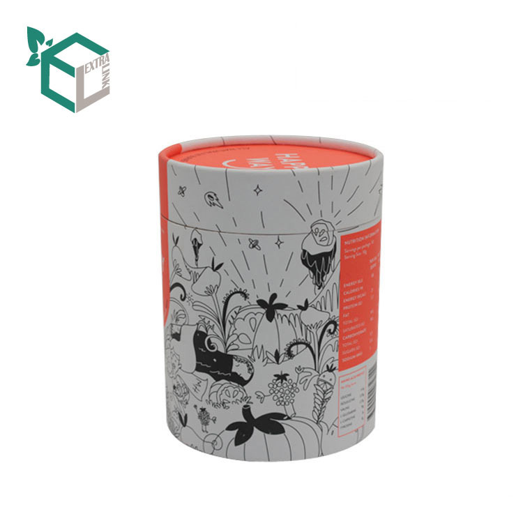 Luxury Orange Printing Pen Packaging Round Box With Curled Edge