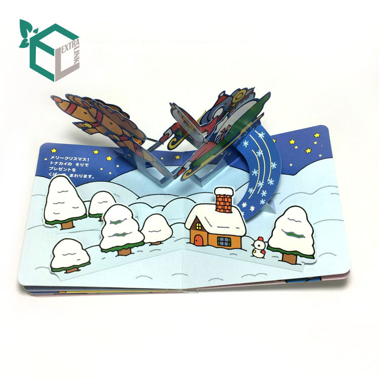 Paperboard Product Material 3d Pop Up Children Book Printing