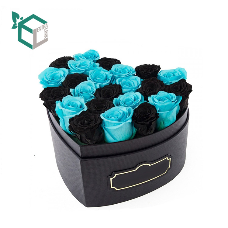 Black Heart Logo Gold Stamping Flower Box With Cheap Price