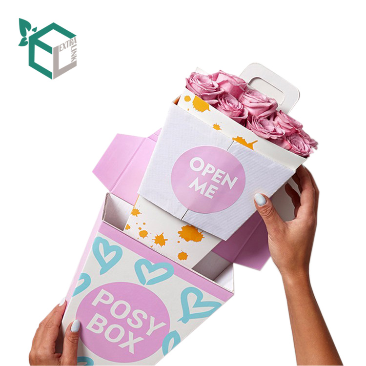 Cheap Custom Printing Folding Flower Boxes For Bouquet