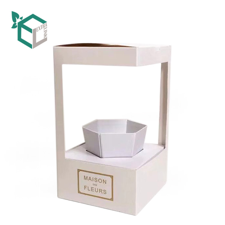 No MOQ Luxury Folding Paper Flower Box Packaging with Window