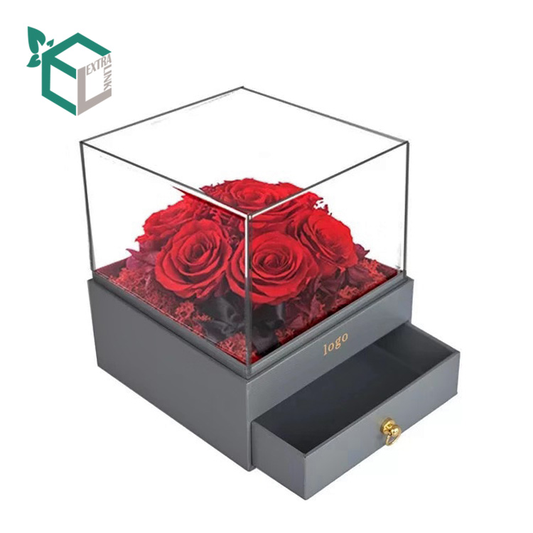 Transparent PVC Window Drawer Flower Box with High Quality