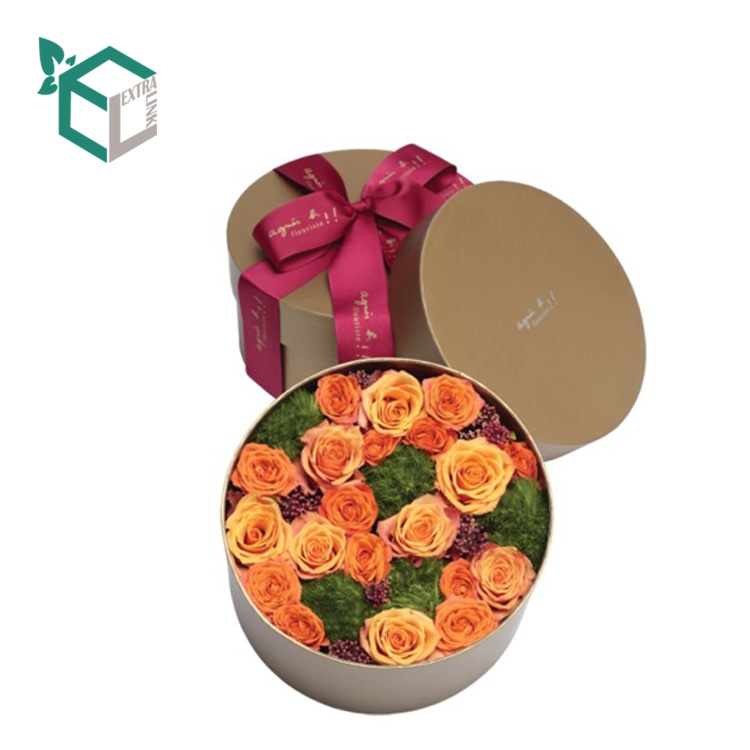 China Factory Directly Whosale Cylinder Box With Ribbon For Flower Packaging