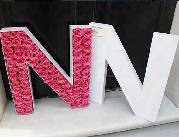 Wholesale Custom Letter Shape Flower Box With Customized Cmyk Printing From China