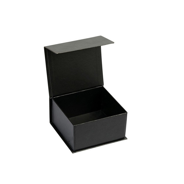 Custom Made Black Cardboard Magnetic Hat Boxes For Baseball Cap Packaging