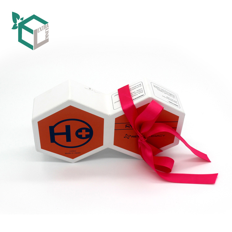 Custom Paper Hexagon Makeup Gift Box Packaging Boxes