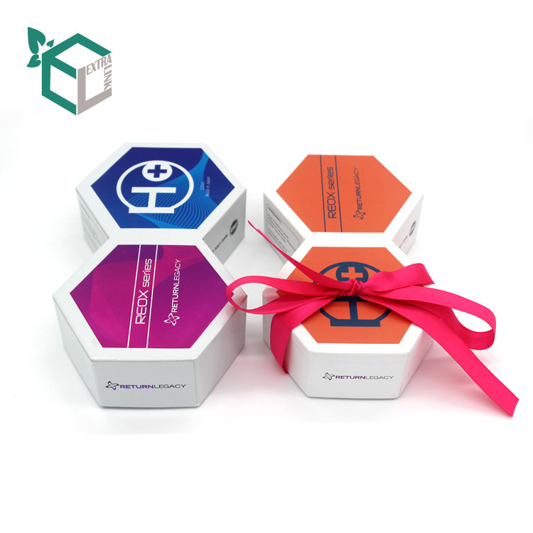 Hexagon Special Shape Gift Box With Ribbon Packaging Box
