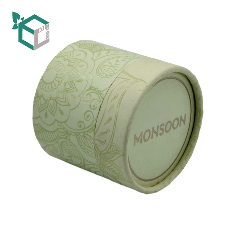 Best Quality Green Printing Matt Film Candle Paper Tube Packaging
